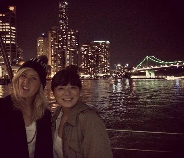 Ellie Goulding on tour in Oz, Brisbane, Instagram, 4 June
