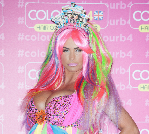 Katie Price promotes ColourB4 during a photocall at The Worx, London - 4 June 2014