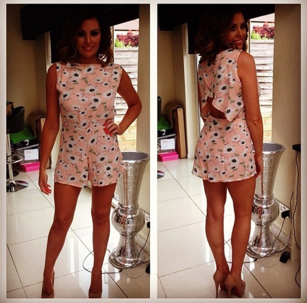 Jess Wright wears Playsuit from With Love Jessica, Instagram - 3 June
