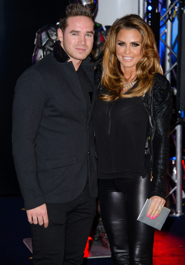 Katie Price and Kieran Hayler attend the premiere of Robocop at the BFI IMAX in London, England - 5 February 2014