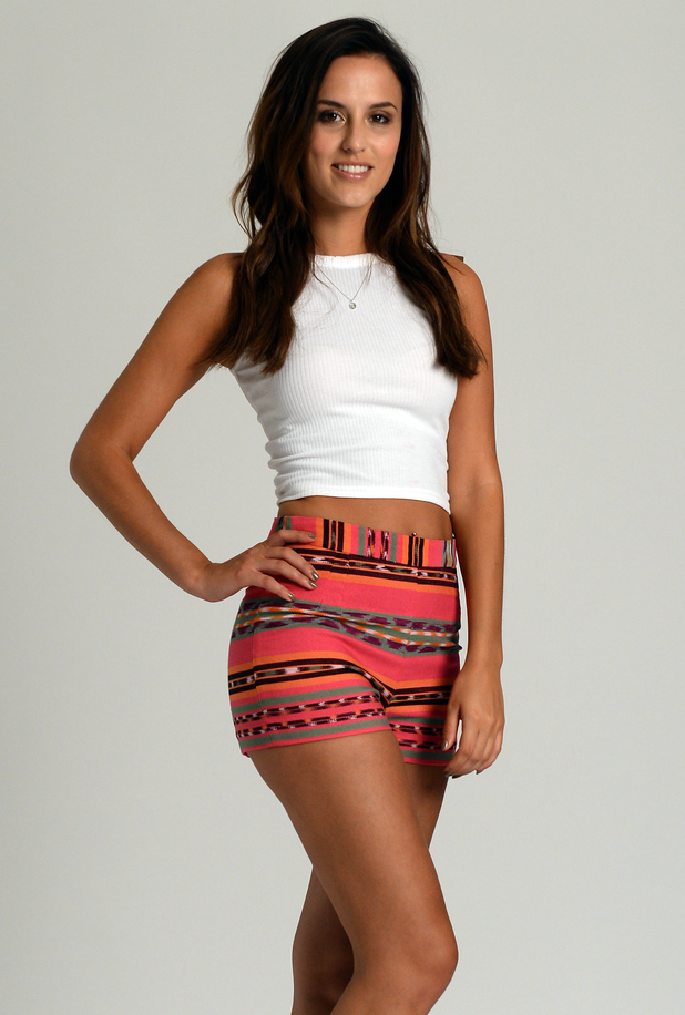 Made In Chelsea's Lucy Watson poses for campaign pictures as the new face of Skinny Tan - 3 June 2014