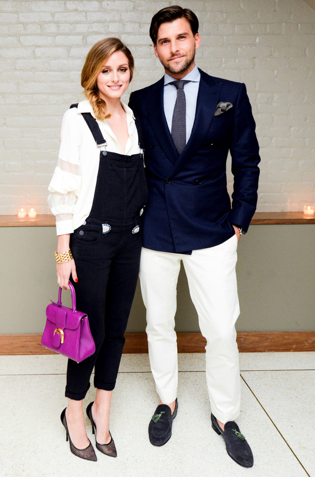 Olivia Palermo and Johannes Huebl attend the Oliviapalermo.com for Westward Leaning Collaboration Launch Dinner, held at The Gander in New York, America - 5 June 2014
