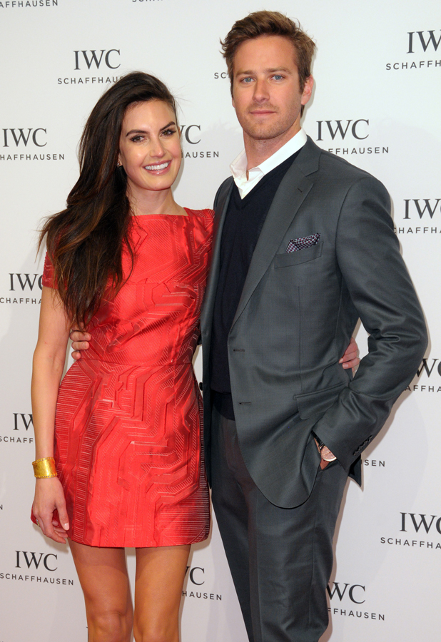 """Armie Hammer and wife Elizabeth Chambers, IWC Schaffhausen And Tribeca Film Festival Host """"For the Love of Cinema"""" Celebration Dinner, April 2014"""