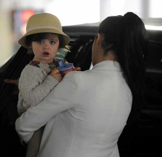 Chantelle Houghton and daughter Dolly out in Essex, 5 June 2014