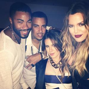 Khloe Kardashian, French Montana and friends after J.Lo's Bronx gig, 4 June 2014