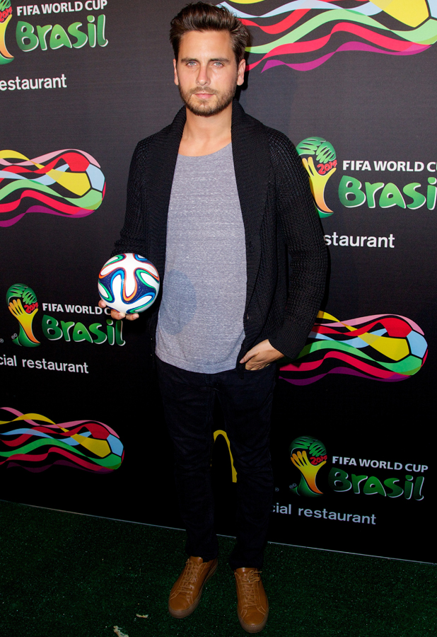 Scott Disick at party: McDonald's unveils their 2014 FIFA World Cup Brazil fry box and new Peel Play Olé Olé Game, 5 June 2014