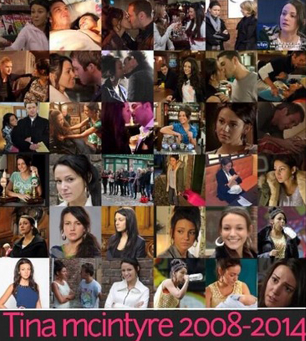 Michelle Keegan's tribute to Tina McIntyre following character's death, 2 June 2014