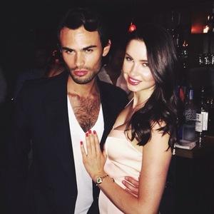 Made In Chelsea's Emma Miller celebrates her birthday with Mark-Francis Vandelli in New York (8June).