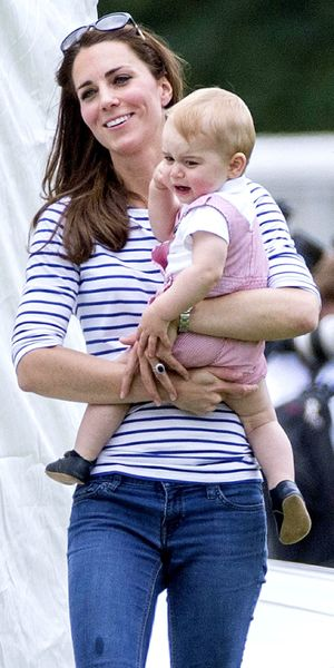 Prince William, Catherine Duchess of Cambridge and Prince George at the Jerudong Trophy polo match, Cirencester Polo Club, Gloucestershire - 15 Jun 2014