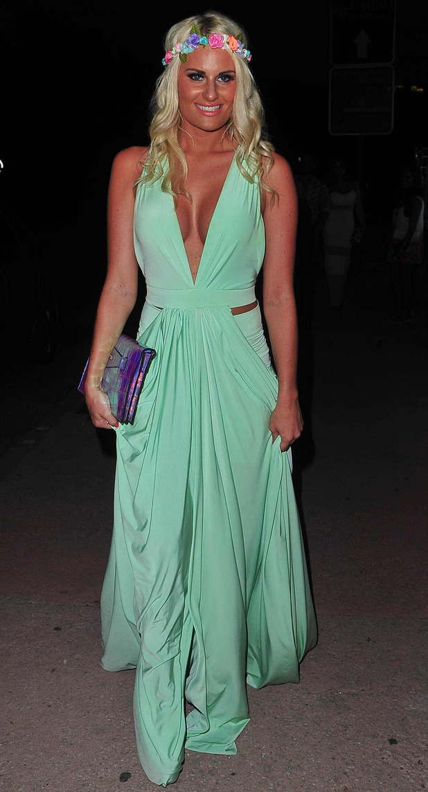 The Only Way Is Essex's Danielle Armstrong heading to dinner in Marbella, Spain - 10 Jun 2014.