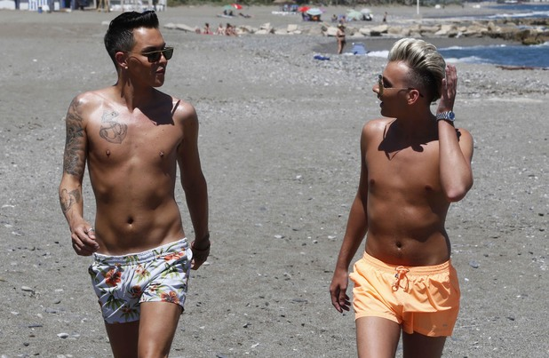 'The Only Way Is Essex' cast in Marbella, Spain - 08 Jun 2014 Bobby Norris and Harry Derbidge
