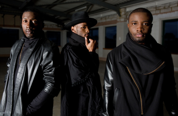 X Factor stars Rough Copy - Sterling Ramsey, Kazeem Ajobe and Joey Thomas - promo pic (June 2014).