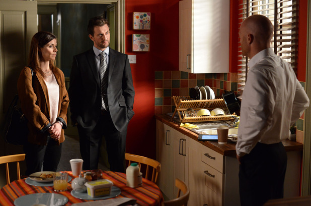 EastEnders, the police re-question Max, Thu 12 Jun