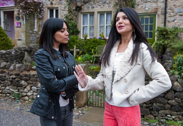 Emmerdale, Alicia tells Priya to stay away from David, Wed 11 Jun