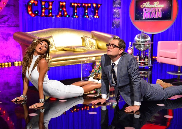 Nicole Scherzinger appears on Alan Carr: Chatty Man and shows off her yoga moves (13 June).
