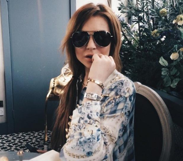Lindsay Lohan, Tom Kilbey's Instagram, London, 12 June