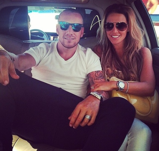 Danielle Lloyd and Jamie O'Hara in Las Vegas - 9 June 2014