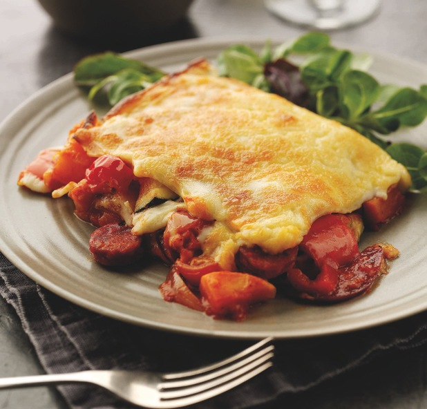 Chorizo, Roasted Vegetable & Cherry Tomato Lasagne