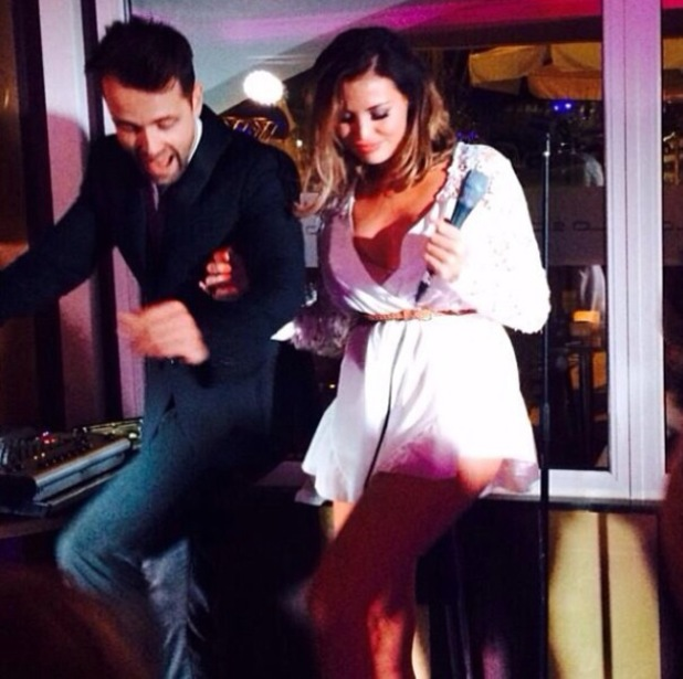 Jessica Wright sings with Michael Buble impersonator in Marbella - 10 June 2014