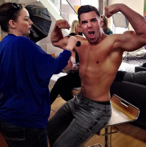 Geordie Shore's James Tindale flexes his muscles on a topless photo shoot - 11 June 2014