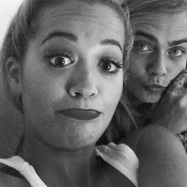 Rita Ora posts selfie with close friend Cara Delevingne (11 June).