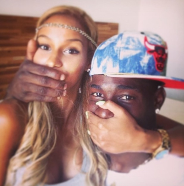 Mario Balotelli gets engaged to Fanny Neguesha ahead of the World Cup - 10 June 2014