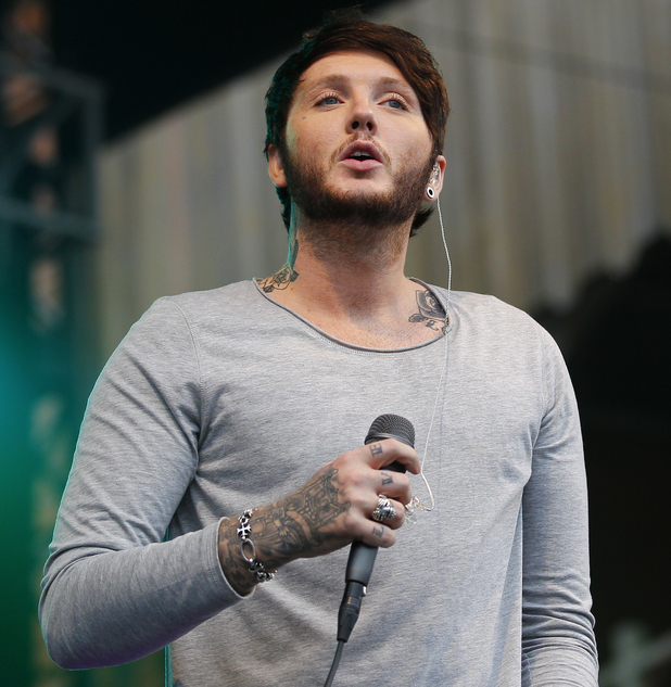 The X Factor 2012 (UK series 9) winner James Arthur performs at 'Summer Saturday Live' at Newmarket Racecourse 05/31/2014