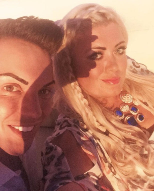 Gemma Collins and Bobby Norris relax in Marbella
