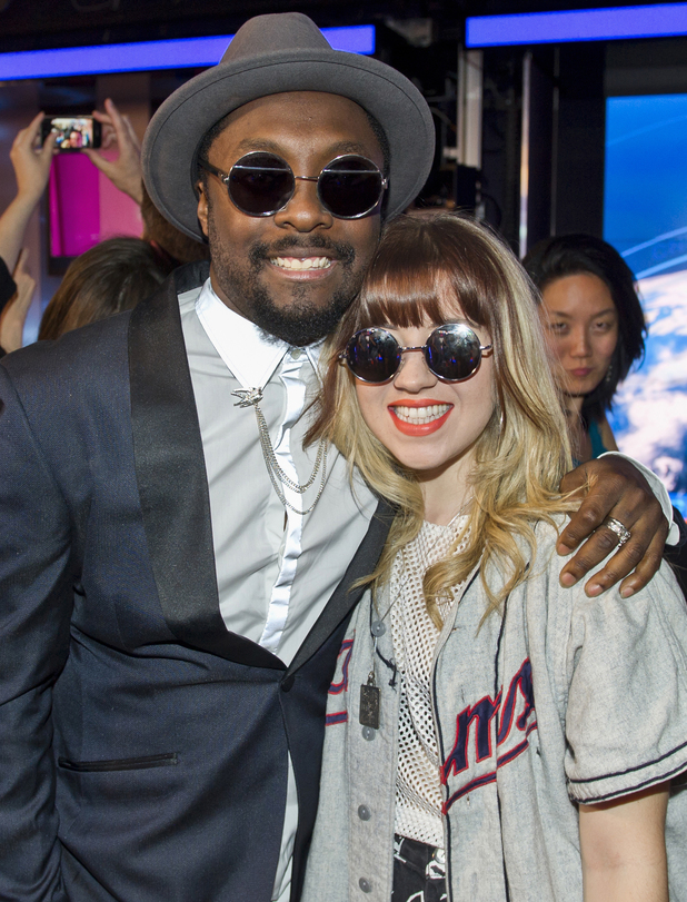 Former Voice contestant Leah McFall and Will.I.Am - 25 Match 2014.