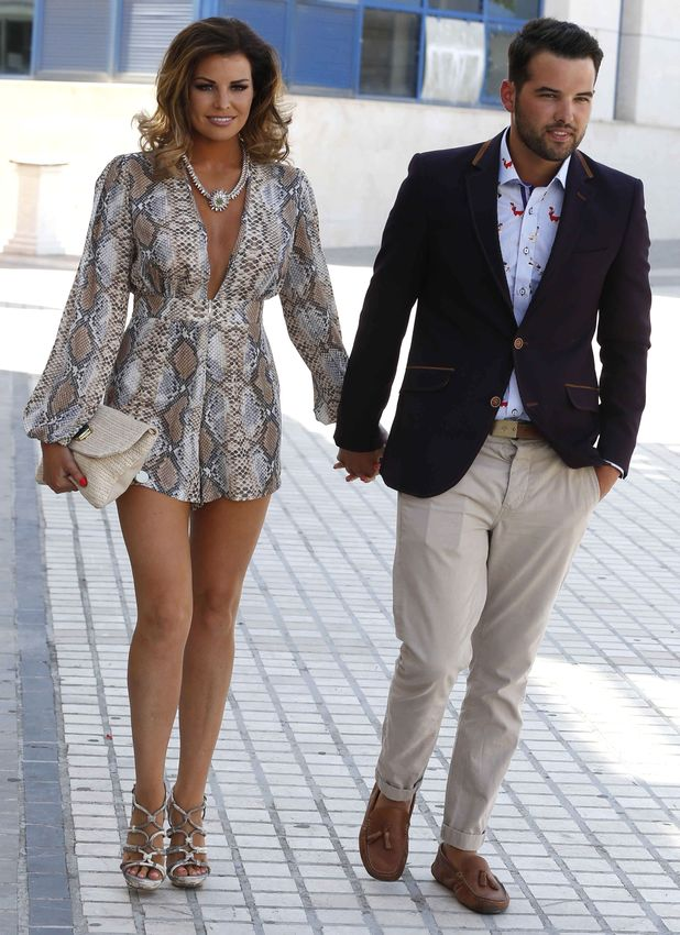 TOWIE's Jessica Wright and Ricky Rayment step out in Marbella, Spain - 12 June 2014