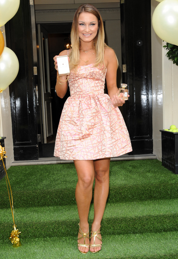 Sam Faiers launches her debut fragrance La Bella at Morton's Club in London, England - 12 June 2014