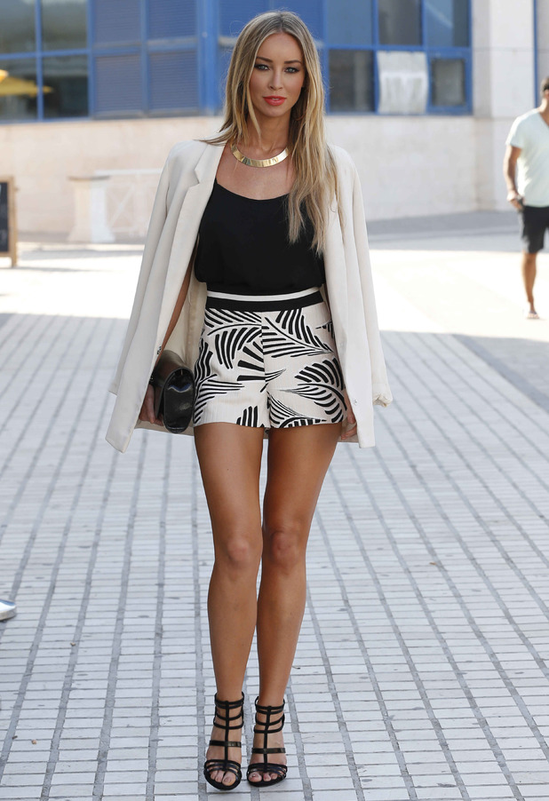 TOWIE's Lauren Pope wears a high street outfit while out in Marbella, Spain - 12 June 2014