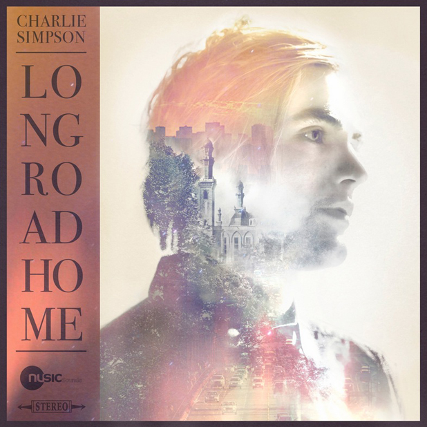 Charlie Simpson's album cover for Long Road Home, released 4 August 2014