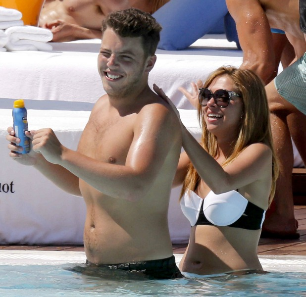 Fran Parman, James Bennewith 'The Only Way Is Essex' cast in Marbella, Spain - 13 Jun 2014