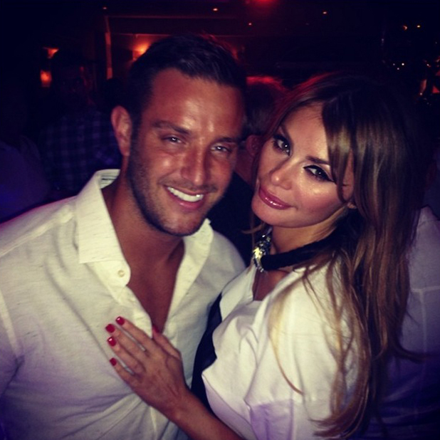 TOWIE stars Elliott Wright and Chloe Sims cuddle up in Marbella, June 2014