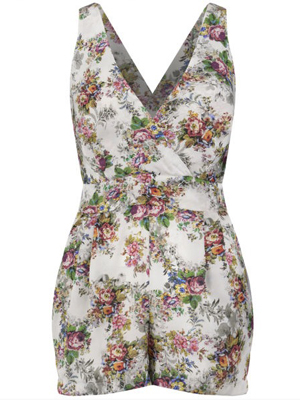 Reveal Shop: LOVE WOMEN'S SECRET GARDEN PLAYSUIT - MULTI £30.00