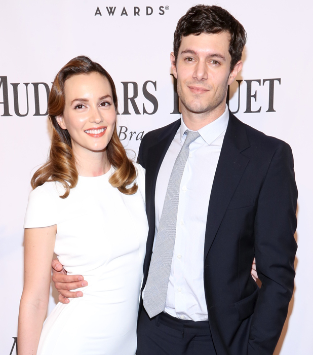 Leighton Meester and Adam Brody's first public appearance as a married couple. The 68th Annual Tony Awards held at Radio City Music Hall - Arrivals, New York, 8 June 2014