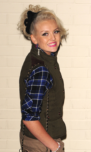 Little Mix Perrie Edwards at X Factor studios on 13 November 2011