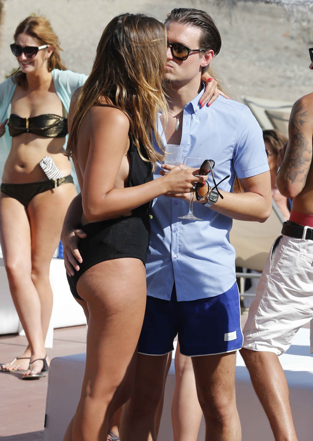 Ferne McCann and Charlie Sims, 'The Only Way Is Essex' cast in Marbella, Spain - 09 Jun 2014