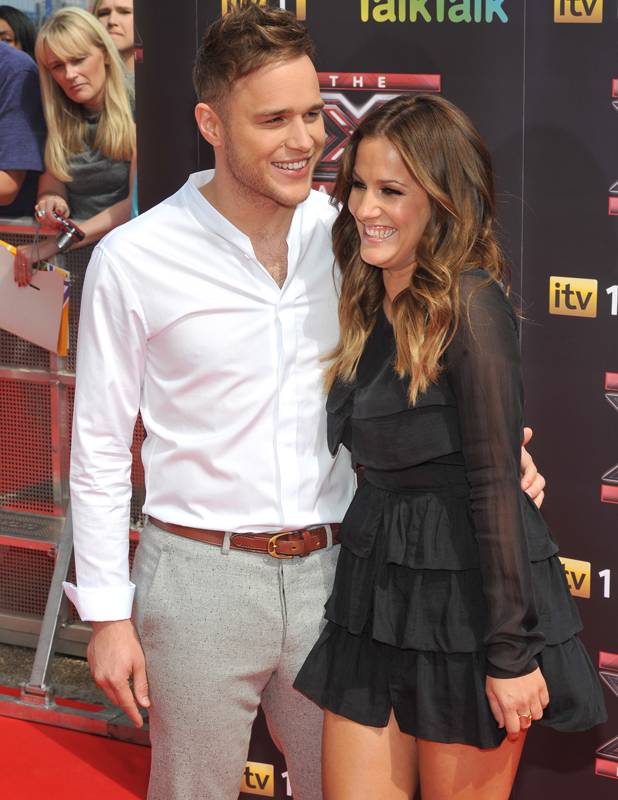 Olly Murs and Caroline Flack, The X Factor - press launch held at the O2 Arena. London, England - 17.08.11