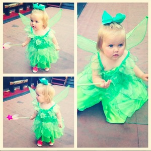 Imogen Thomas posts pictures of her daughter Ariana dressed as Tinkerbell, 21 June 2014