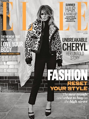 Cheryl Cole is the cover girl for ELLE UK's August 2014 edition, available 3 July 2014
