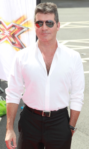 Simon Cowell arrives at Old Trafford stadium for 'The X Factor' Manchester auditions - 16 June 2014
