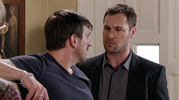 Corrie, Rob threatens Peter, Wed 18 Jun