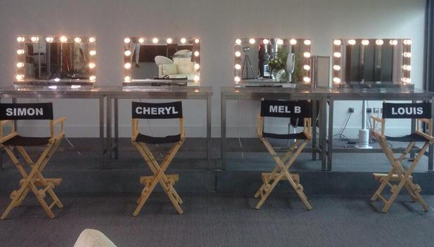 The X Factor judges' green room in Manchester - 16 June 2014