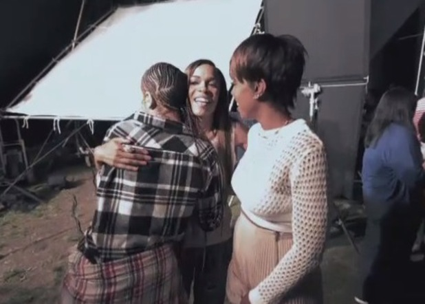 Destiny's Child reunite for Michelle Williams' 'Say Yes' video - behind the scenes snapshot (18 June).