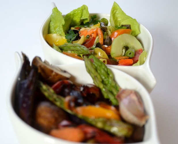 Vegetables and salad