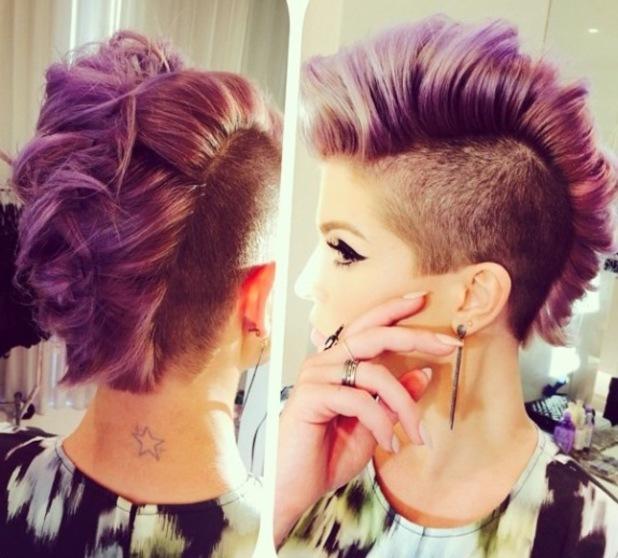 Kelly Osbourne rocks sophisticated mohawk for Vera Wang - Black Female Mohawk Hairstyles