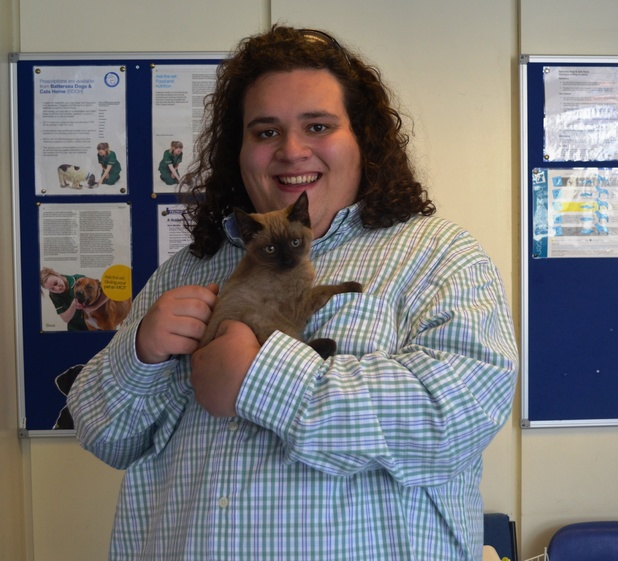 Jonathan Antoine with new kitten Willow