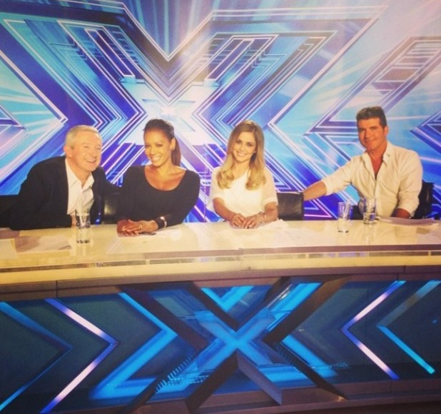 First pic of X Factor judges: Louis Walsh, Cheryl Cole, Mel B and SImon Cowell. (16 June).